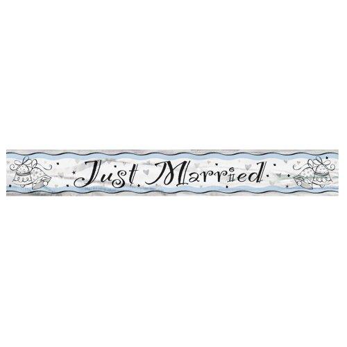 12ft Foil Just Married Banner