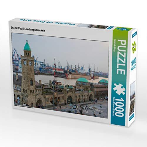 CALVENDO Puzzle Die St.Pauli Landungsbrücken 1000 Teile Lege-Größe 64 x 48 cm Foto-Puzzle Bild von Gabriele Krug