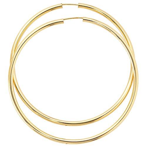 JOBO Damen-Creolen groß aus 333 Gold Durchmesser 60 mm