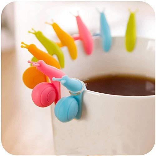 SwirlColor Hängende Teebeutel Neue Nette Bunte Schnecken Form Silikon Halter Schalen Becher Süßigkeit Farben Geschenk Satz 24pcs (24 pcs)