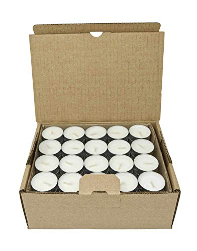 Natural Tealights 100% Vegetable Wax Blend Paraffin-Free Burning Time 4 or 6...