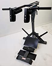 """TDS Leverage Calf & Squat Machine with Pillow Block Bearings, Finished Thick Contour Shoulder and Back Pads, Heavy Duty Diamond Plates to accommodate Short to Tall 6'-6"""" People. Color Dark Grey"""