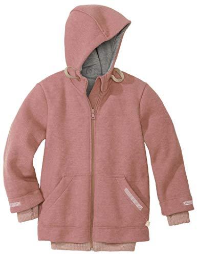 Disana Outdoor-Jacke aus 100% Bio Merino Schurwolle (kbT) in Rose Oder Anthrazit, Futter 100% Bio Baumwolle, Warme Winterjacke für Jungen und Mädchen (98/104, Rose)