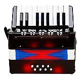 Acordeón Acordeón Profesional De 17 Teclas 8 Instrumento Musical del Juguete Bajo La Educación con La Correa De Vino Tinto