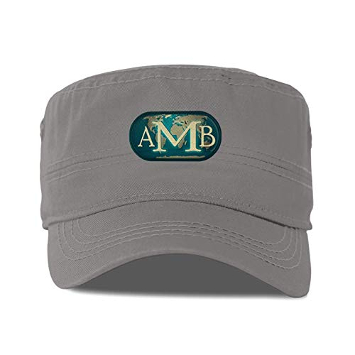 Academy A of Massage and Bodywork Logo Adult Flat Caps Mens and Womens Dad Hats Baseball Black Cap Easily Adjustable Suitable for Sports, Outdoor, Daily, Unisex Adult Flat Cap.