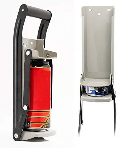 ADEPTNA - Schiaccia-lattine 2 in 1 con apribottiglie, per birra e lattine grandi fino a 500ml, montaggio a parete, strumento per riciclo