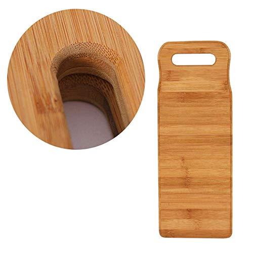 ZUNH2 Waschbrett-Waschbrett aus Bambusholz für das Waschen von Wäsche zu Hause