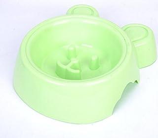 Pet Water Dispenser Smile Rabbit Slow Food Bowl Anti-Choke Dog Bowl(Green) Cat Travel Drink Bottle