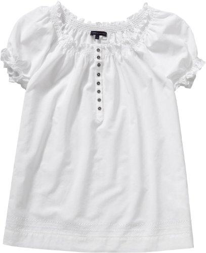 Tommy Hilfiger - Blusa con Cuello Redondo de Manga Corta para Mujer, Talla 40, Color Blanco (100/Blanco (Classic White))