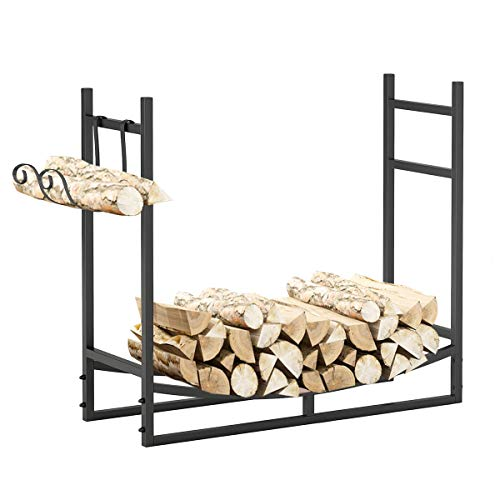 Great Features Of Morinome Firewood Rack,Outdoor Storage Box with Kindling Holder Heavy Duty Log Hol...