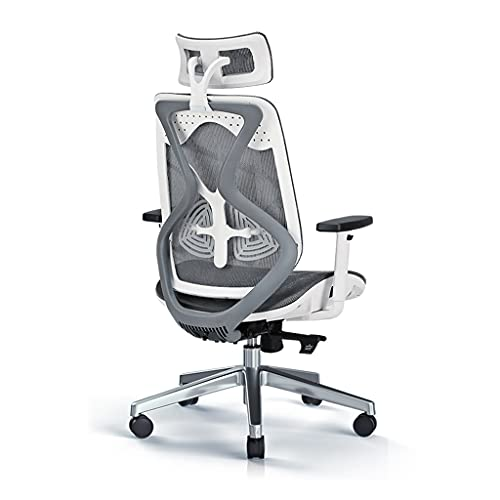 Sillas ergonómica computadora Jefe Asiento cómoda giratoria Oficina Completa de Malla Estudio (Color : A, Size : 70 * 70 * 119CM)