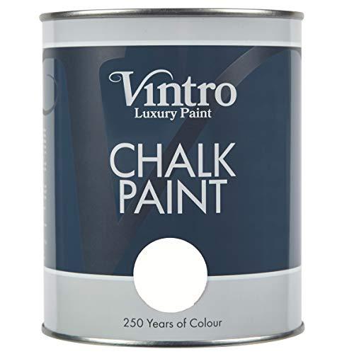 Pintura Vintro | Pintura de tiza | Noche (Negro/Azul) | 1L | Pintura para muebles | Shabby Chic | Acabado Ultra Mate