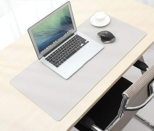 Almohadilla de escritorio de doble cara, alfombrilla de escritorio de oficina, resistente al agua, accesorios de protector de escritorio de cuero de PU para oficina y decoración del hogar