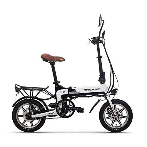 3way乗り原動機付自転車 RICHBIT EV 折り畳み 公道可 TOP619バイク小型電動スクーター(ホワイト)
