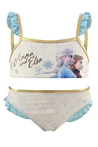 Frozen Movie Disney – Disfraz de bikini de 2 piezas para playa o piscina – Producto original con licencia oficial 1858 Beige 6 años