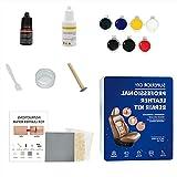 unknows Crema de reparación de Cuero Multifuncional 65g Reparación de Resina Líquido para rasguños de Cuero Lágrimas Quemar Agujeros Kit de reparación de Cuero Kit de reparación de líquido Compuesto