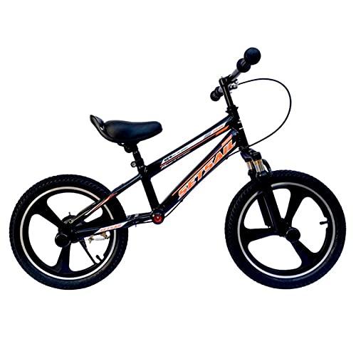 Bicicletas sin Pedales Niños Grandes Bicicletas Deportivas de Equilibrio con Freno, Estructura de Acero Resistente Sin Bicicleta de Pedales para Niños Pequeños, Manillar Ajustable ( Size : 16-Inch )