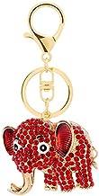 Sleutelhanger Schattige Olifant Auto Tas Accessoires Sleutelhanger Metalen Cartoon Kleine Geschenken rood