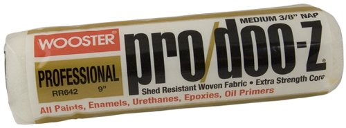 Wooster Brush RR642-9 Pro/Doo-Z Roller Cover, 3/8-Inch Nap, 9-Inch
