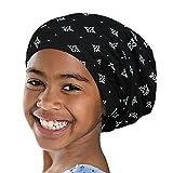 Satin Lined Sleep Cap Girls Night Head Wrap Floral Silk Girls Turban
