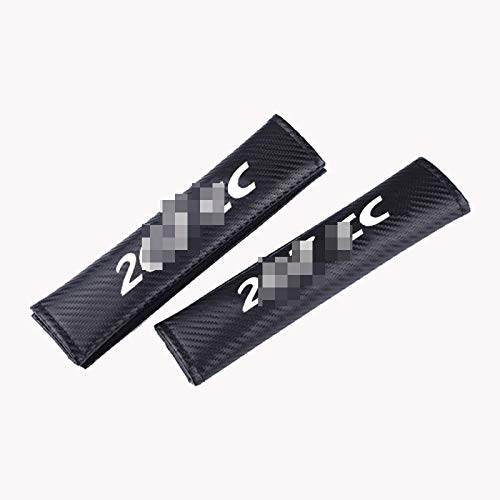 JzyhNzd para Peugeot 207 CC, 2 Piezas PU Cubierta de cinturón de Seguridad de Coche hombreras de cinturón de Seguridad de Coche