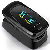 Pulsossimetro,Saturimetro da Dito Portatile Professionale con Display LCD per Frequenza del...