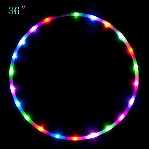 """Maikerry 36"""" Led Hoola Hoop for for Kids and Adults Changing LED LightWeight Hoops"""