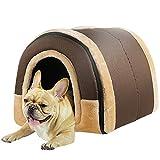 LTLJX Cama para Mascotas Grande Perro Nido Perrito Casa Invierno Cueva Suave Interior Cojín Cama para Perros Lavable Cuatro Estaciones Perrera,D,M45*38 * 36cm