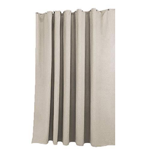 Ppy778 Duschvorhang Vorhang Partition Vorhang Nachahmung Leinen Beige Nordic Free Punch wasserdichte Dicken Vorhang Geschenk (Color : Gray, Size : 180 * 200CM)