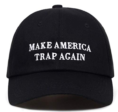 TorontoFinds, Custom Unisex 100% Cotton dad hat, Make America Trap Again Custom Adjustable Strapback hat in Black