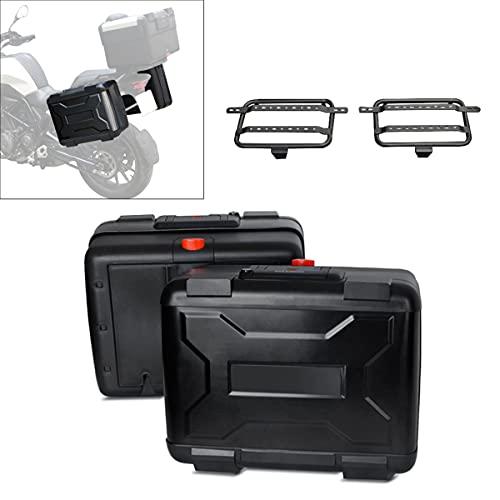 Motorrad Koffer + Kofferträger Universal Bagtecs Vario Seitenkoffer 28-38L schwarz