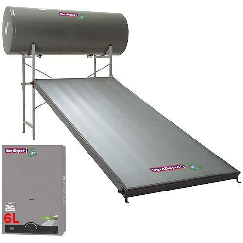 Calentador Solar Calefactor Paso, SolarH2O, MXSOH-001, 40 Gal, 3/4 Pulg. NTP, 6 L/min, 100gf/cm2, 39°C, Gas Natural