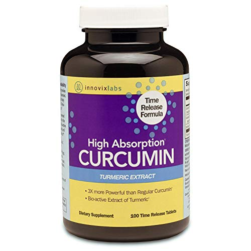 InnovixLabs Curcumin Turmeric w/ C3 Reduct, C3 Complex & BioPerine Black Pepper for Higher Absorption, 100 Time-Release Tablets, 95% Tetra-Hydro-Curcumin, Turmeric Curcumin Supplement, Curcumin Supple