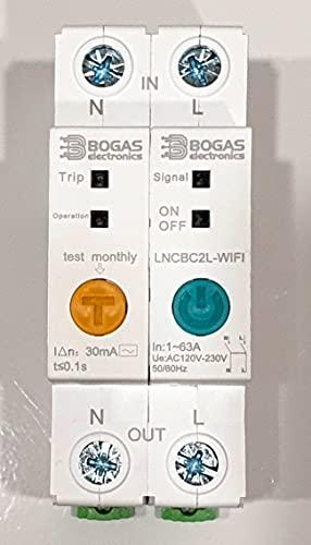 Interruptor Diferencial Inteligente WIFI eWeLink 2.4G. Medidor de consumo, Potencia, Intensidad y Voltaje. Programación, Temporizador y Temporizador en bucle.
