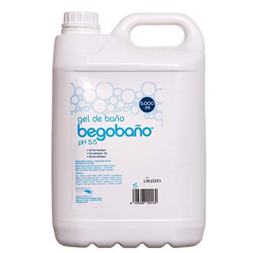 Begobaño Gel de Baño Dermatológico de Suave Aroma, formato garrafa de 5 litros.