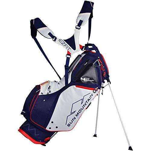 Sun Moutain Golf 2019 4.5 LS 14-Way Stand Golf Bag NAVY-WHITE-RED (Navy-White-Red)