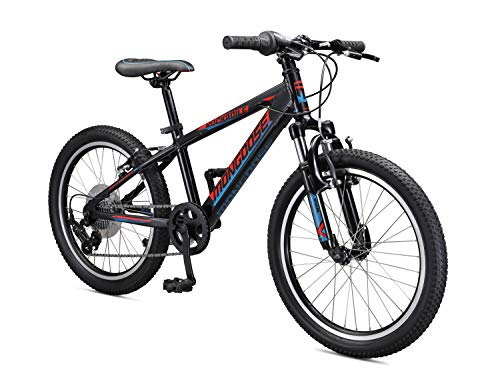 Mongoose Rockadile Kids Hardtail Mountain Bike, 20-Inch Wheels, Black