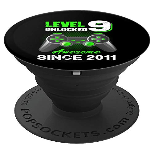 Level 9 Unlocked Awesome 2011 Video Game 9th Birthday Gift PopSockets Grip and Stand for Phones and Tablets