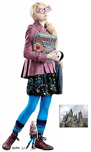 BundleZ-4-FanZ by Starstills Luna Lovegood (Evanna Lynch) Harry Potter Lebensgrosse und klein Pappaufsteller/Stehplatzinhaber/Aufsteller mit 25cm x 20cm foto