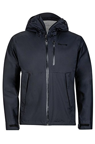 Marmot Men's Magus Lightweight Waterproof Rain Jacket, Medium, Jet Black