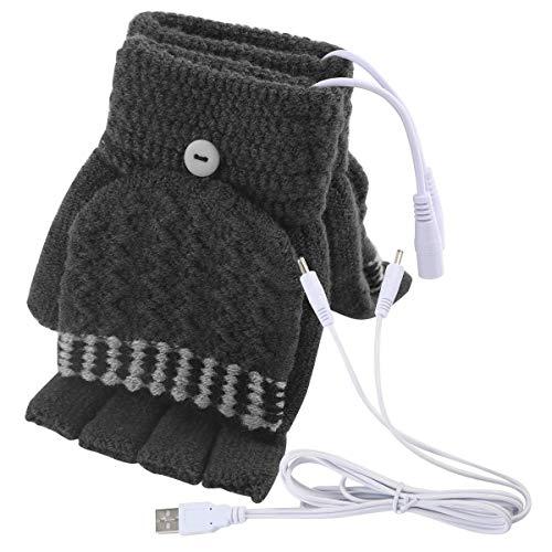 LanXi® Beheizte Tastatur: Beheizte USB-Handschuhe, bis 50 °C, entnehmbare Heiz-Elemente (Dunkelgrau)