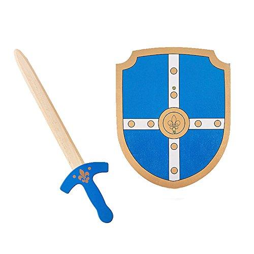 BS- Dague de Chasseur et Bouclier de Chevalier, GA253, Bleu, Taille Unique
