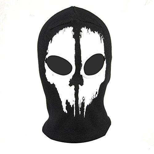 Hakkain Crâne Masque Visage Complet Cosplay Passe-montagne Jeu Paintball Capu...