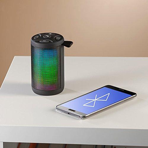 auvisio Musikbox: Lautsprecher & MP3-Player mit Bluetooth, Radio, Lichtimpulsen, 6 Watt (MP3 Box)