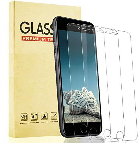 Lixuve iPhone Se 2020 Protector de Pantalla, Alta Claridad Cristal Templado para...