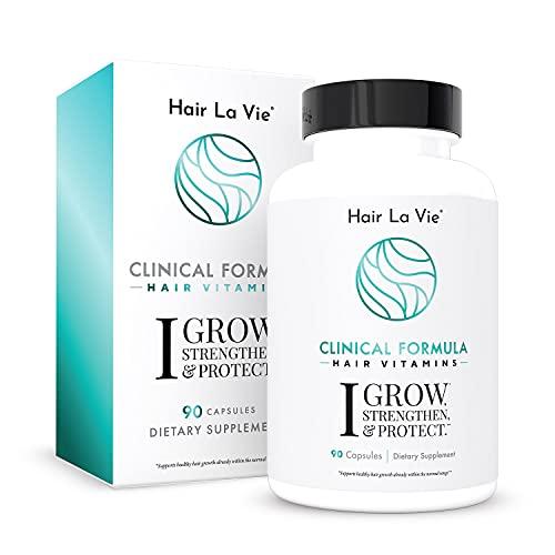 Hair La Vie Clinical Formula Hair Vitamins with Biotin and Saw Palmetto - Healthy Hair and Whole-Body Wellness