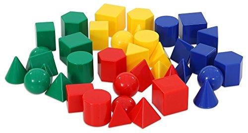 Betzold 40 kleine Geometrie-Körper - Geometrie geometrische Körper Formen Kinder Schüler Schule Lehrmittel Körperformen Geometrieformen Volumen Mengen Form Mathematik Lernen Unterricht