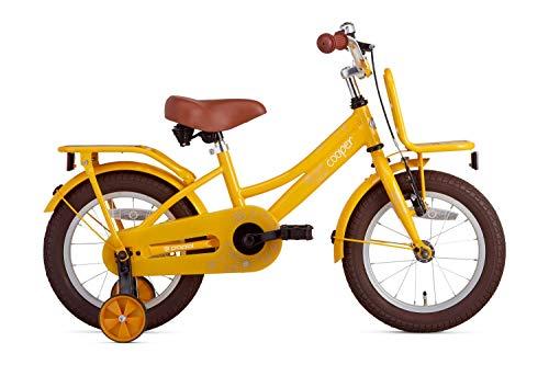 Kinderfiets Popal Cooper Bamboo 12, 14, 16, 18 en 20 inch Meisjesfiets met zijwieltjes in meerdere kleuren voor kinderen van 3 tot 7 jaar