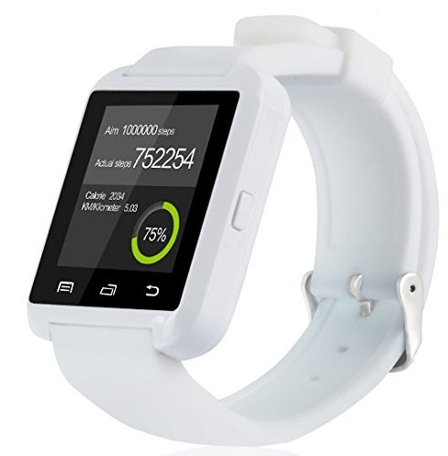 GroMate U8 Smartwatch Bluetooth Fitness Smart Uhr Watch with Touch Screen Hands Free hände frei Höhenmesser für Smartphones Android Samsung S2/S3/S4/Note 2/Note 3 HTC LG Huawei Weiß