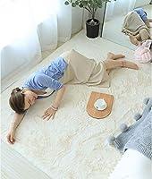 シャギーソフトエリアラグ、滑り止めふわふわぬいぐるみカーペット、長方形のモダンな厚いラグ、リビングルームの寝室用